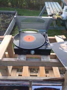record player vinyl storage unit  pallets