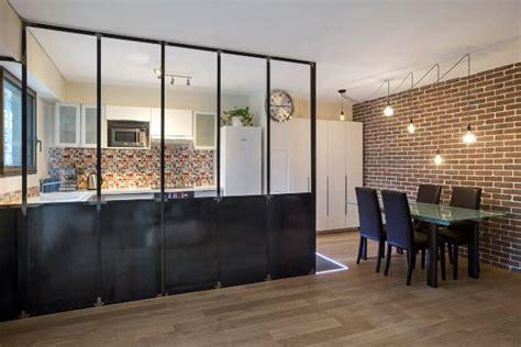 cuisine style industriel verrière atelier d 39 artiste d 39 intérieur finition couleur