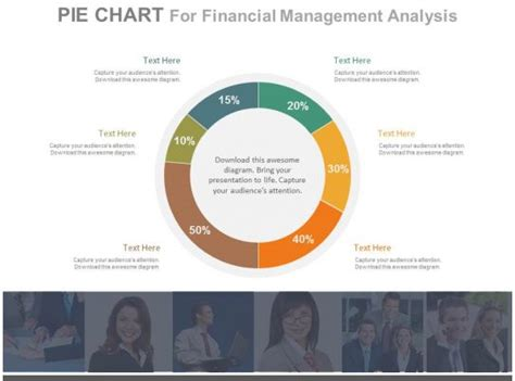 staged pie chart  financial management analysis