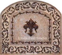 kitchen backsplash medallions fleur de lis kitchen backsplash mosaic tile medallions