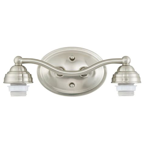 westinghouse 2 light brushed nickel wall mount bath light