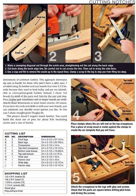 Kitchen Step Stool Plans ? WoodArchivist