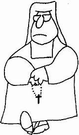 Nun Coloring Pages Monja Para Colorear sketch template