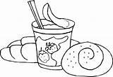 Coloring Bread Yogurt Pages Sheet Ice Cream Taco Getcolorings Printable sketch template