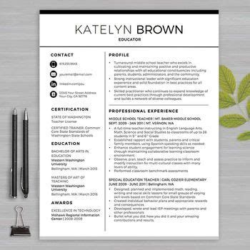 resume template for ms word educator resume