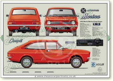 morris marina coupe series    classic car portrait print