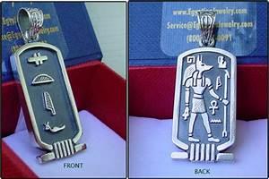 Egyptian Silver Anubis Cartouche - Egyptian Jewelry ...