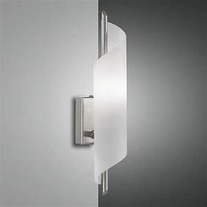Wandleuchte Mit Schalter : moderne wandleuchte mit geschwungenem glas schalter wohnlicht ~ Whattoseeinmadrid.com Haus und Dekorationen