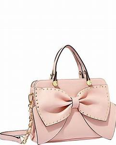 Betsey Johnson BOW REGARD SMALL SATCHEL BLUSH accessories