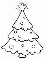 Tree Coloring Christmas Pages Trees Blank Snowy Outline Printable Template Templates Comments Printablee sketch template