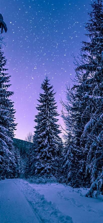 Iphone Winter Wallpapers 4k Snow Night Ipad