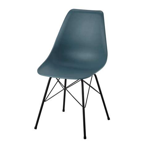 Housses Coussins Canapé - chaise en polypropylène et métal bleue cardiff maisons