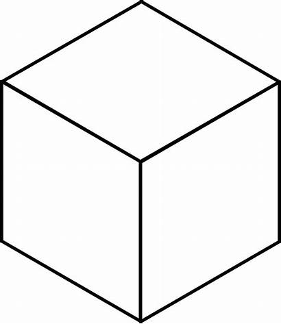 Cube Clipart Block Drawing Projection Boxes Isometric