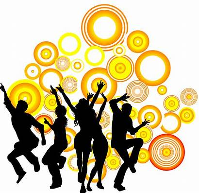 Silhouette Clipart Dance Partying Clip Circle Western