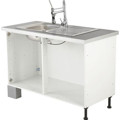 caisson sous evier cuisine caisson de cuisine sous évier se80 delinia blanc l80 x h85