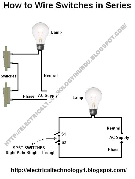 how to wire switches in series electrical technology