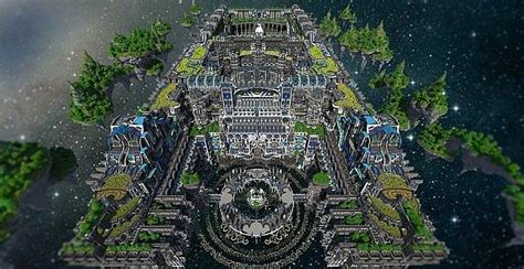 center  valhalla flying fortress minecraft building
