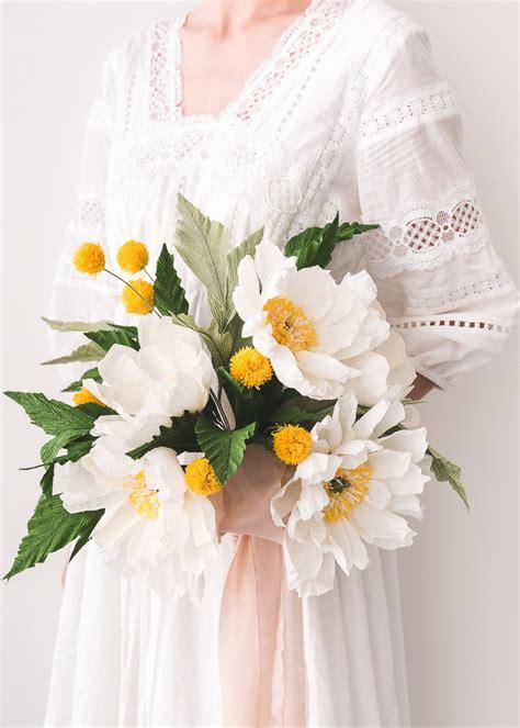 paper flower wedding bouquet  house  lars built
