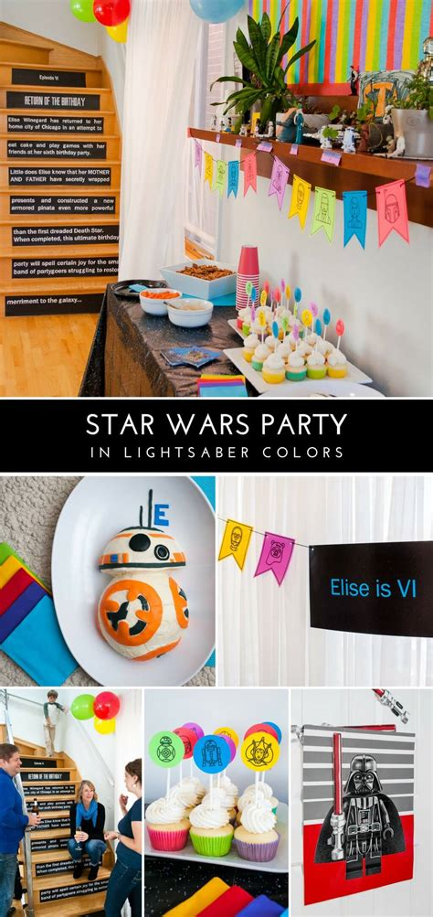 star wars birthday party  lightsaber colors