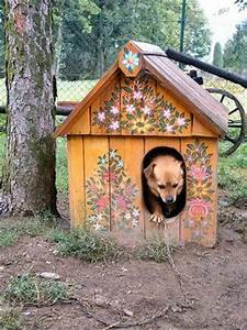 44 best images about creative dog houses on pinterest With painted dog house