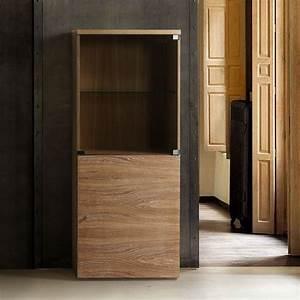Petit Meuble Vitrine : petit meuble vitrine en ch ne brin d 39 ouest ~ Melissatoandfro.com Idées de Décoration