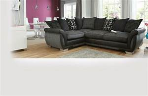 Right hand facing 3 seater pillow back deluxe corner sofa for Perez 4 seater pillow back sectional sofa