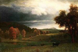 Albert Bierstadt Autumn Landscape The Catskills painting ...