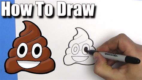 draw  poop emoji easy step  step