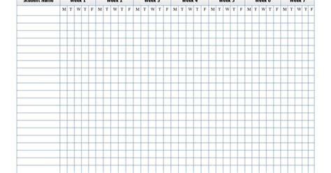 printable attendance sheet template education