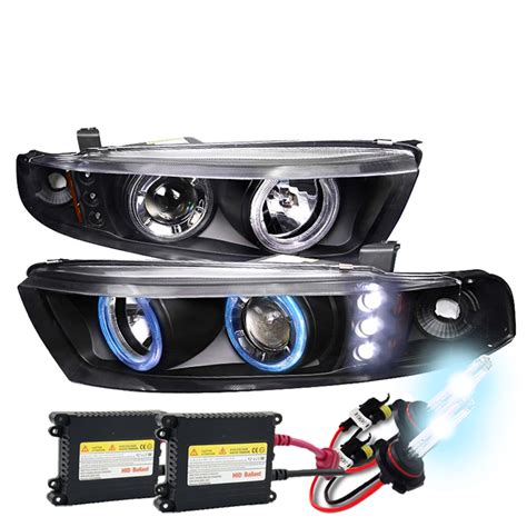 Mitsubishi Galant Headlights by Hid Xenon 99 03 Mitsubishi Galant Eye Halo Led