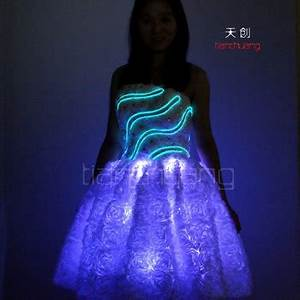 Palco Trajes De Led Iluminação Brilhante Roupas Luz De