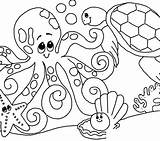 Coloring Sea Pages Seashell Under Shells Printable Adults Realistic Colouring Shell Plants Getcolorings Seaweed Sheets Getdrawings Colorings sketch template