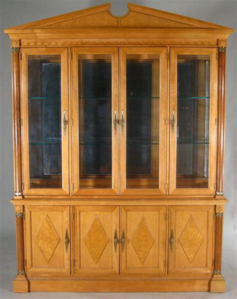 stanley furniture china cabinet igavel auctions federal style stanley furniture maple