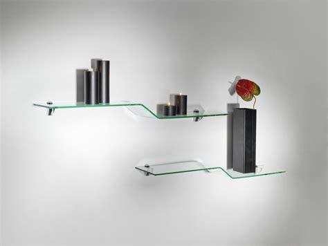mensole cucina mensole moderne per cucina in vetro design boa
