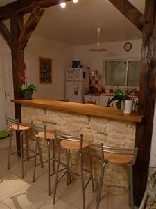 Fabriquer Un Bar : fabriquer un bar de cuisine en placo image sur le design ~ Carolinahurricanesstore.com Idées de Décoration