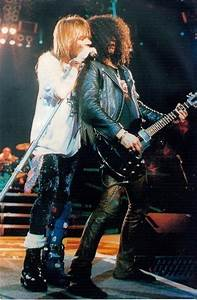 Axl Rose and Slash, early '90s | Hair Bands | Pinterest ...