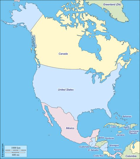 map  north america facts information beautiful