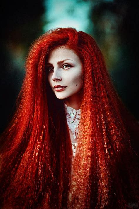 Vibrant Red Orange Crimped Hair Yummy Textures