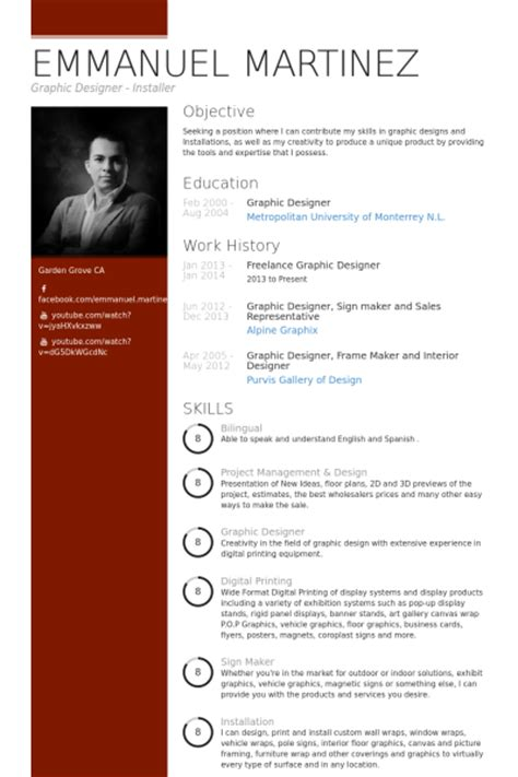 graphic design resume sles visualcv resume sles