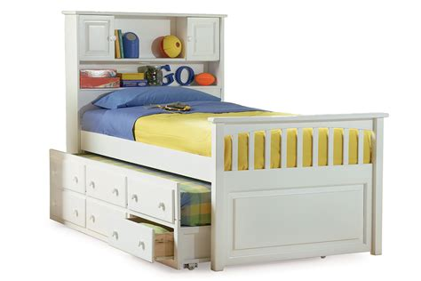 captains bookcase platform bed white ap