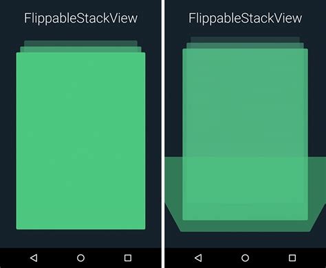what does android how to implement customized stack view in android stack