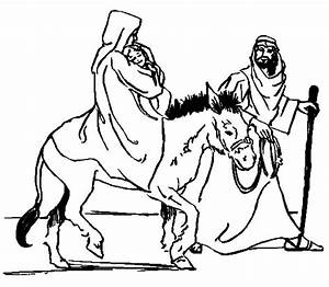Mary And Joseph Donkey Coloring Page Bltidm