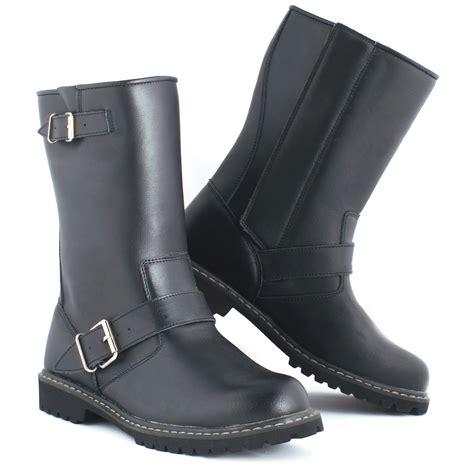 motorcycle boots black leather motorbike custom waterproof breathable