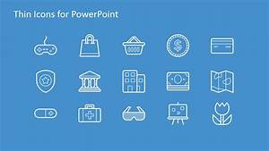 Flow Chart Signs And Symbols Thin Icons For Powerpoint Slidemodel