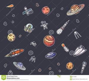 Astronomy Doodles Vector Concept. Stock Vector - Image ...