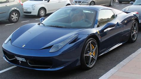 Beautiful tdf blue over cuoio leather 458 spider with delivery miles! BLUE TOUR DE FRANCE FERRARI 458 SPIDER - Driving and sound ...
