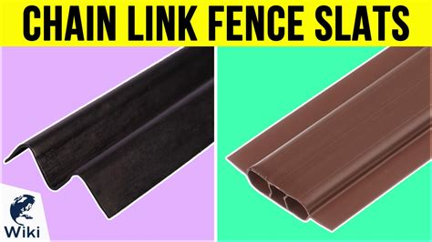 top  chain link fence slats   video review