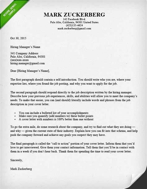 cover letter samples  writing guide resume genius