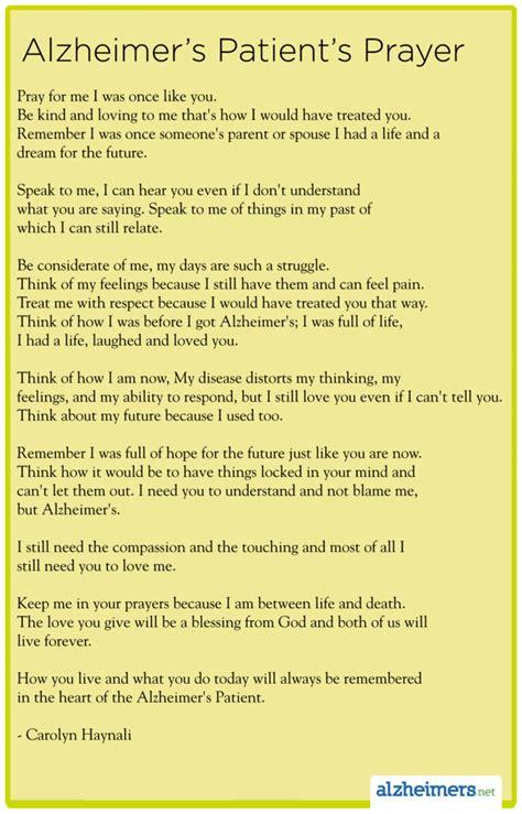 alzheimers patients prayer  carolyn haynali