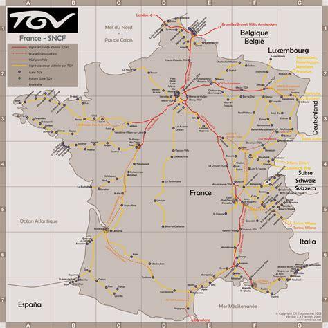 foto de Carte de lignes TGV Vacances Arts Guides Voyages